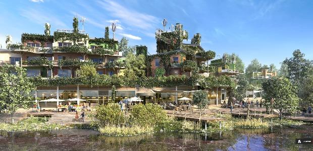 Jardins suspendus, lacsarificiel, la nature reconstituA�e