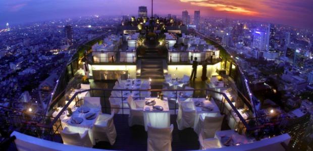 Sur le toit terrasse A� Bangkok